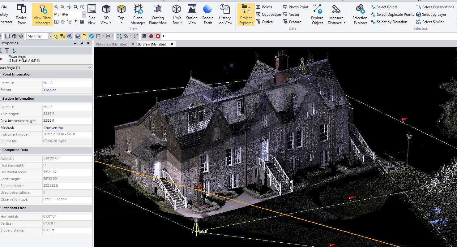 CSDS GSA SFC – Trimble SX10 Scanning Workflows